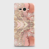 Sony Xperia XZ2 Compact Cover - Trendy Chic Rose Gold Marble Printed Hard Case with Life Time Colors Guarantee