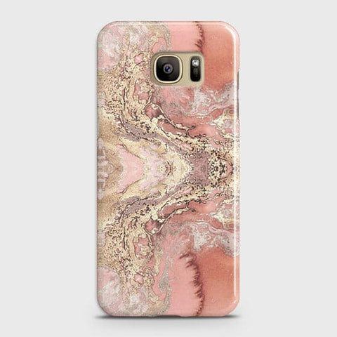 Trendy Chic Rose Gold Marble 3D Case For Samsung Galaxy Note 7