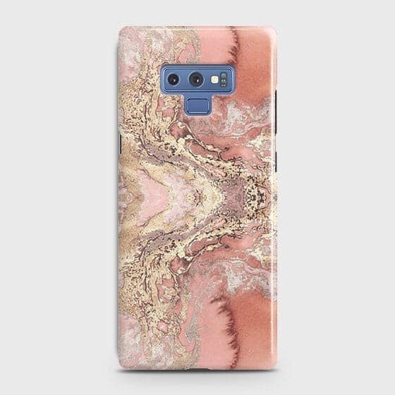 Trendy Chic Rose Gold Marble 3D Case For Samsung Galaxy Note 9