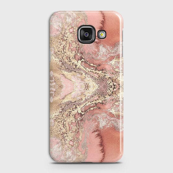 Trendy Chic Rose Gold Marble 3D Case For Samsung Galaxy A710 (A7 2016)