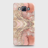 Trendy Chic Rose Gold Marble 3D Case For Samsung A5