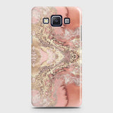 Samsung A7 Cover - Trendy Chic Rose Gold Marble Printed Hard Case with Life Time Colors Guarantee
