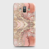 Samsung Galaxy J7 Duo Cover - Trendy Chic Rose Gold Marble Printed Hard Case with Life Time Colors Guarantee