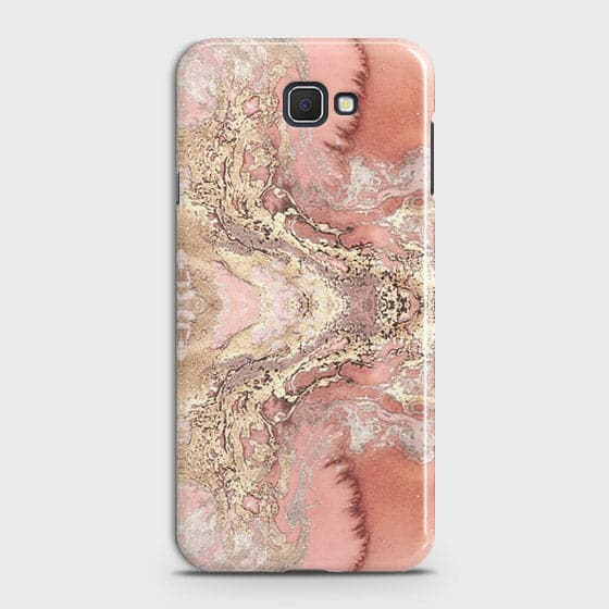 Samsung Galaxy J5 Prime Cover - Trendy Chic Rose Gold Marble Printed Hard Case with Life Time Colors Guarantee
