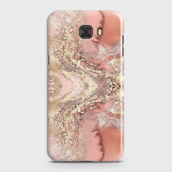 Samsung C9 Pro Cover - Trendy Chic Rose Gold Marble Printed Hard Case with Life Time Colors Guarantee