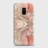 Trendy Chic Rose Gold Marble 3D Case For Samsung A8 Plus 2018