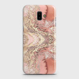 Trendy Chic Rose Gold Marble 3D Case For Samsung J6 Plus 2018