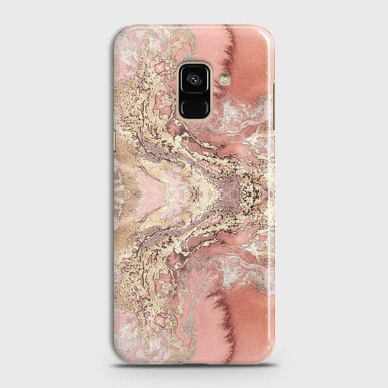 Trendy Chic Rose Gold Marble 3D Case For Samsung A6 2018