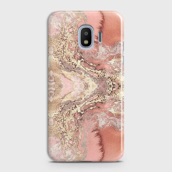 Trendy Chic Rose Gold Marble 3D Case For Samsung Galaxy J2 Pro 2018