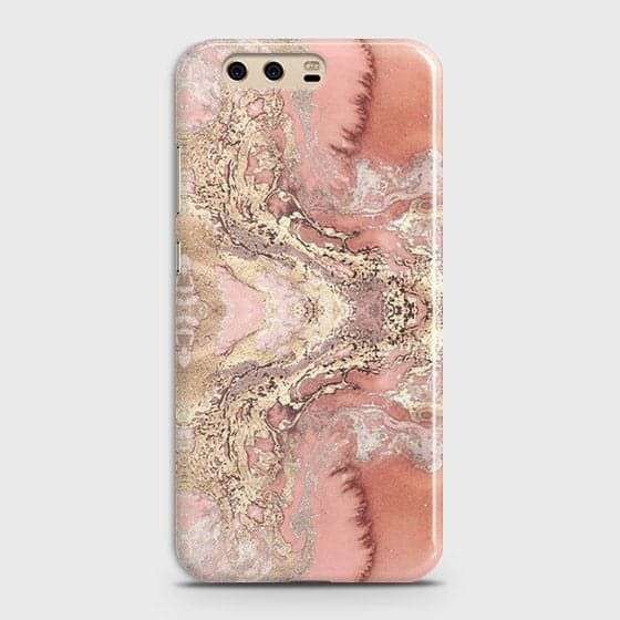 Trendy Chic Rose Gold Marble 3D Case For Huawei P10 Plus