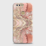 Huawei Honor 8 Cover - Trendy Chic Rose Gold Marble Printed Hard Case with Life Time Colors Guarantee