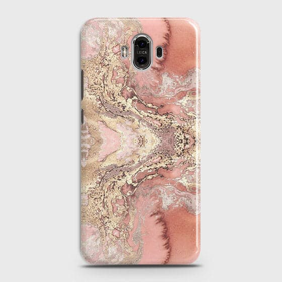 Trendy Chic Rose Gold Marble 3D Case For Huawei Mate 9