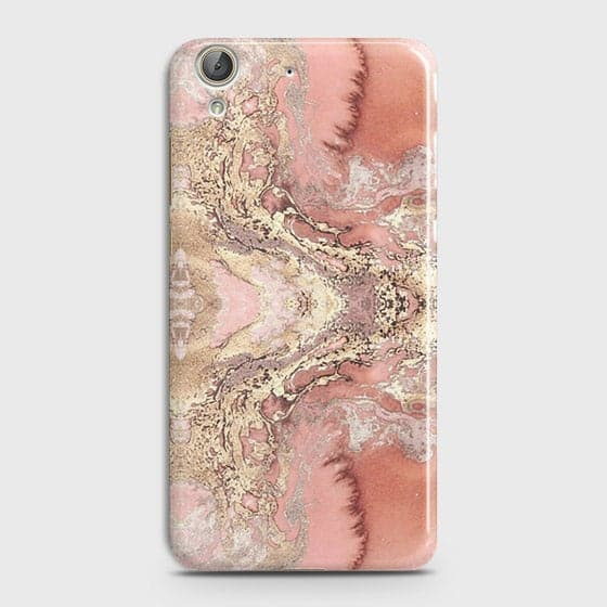 Trendy Chic Rose Gold Marble 3D Case For Huawei Y6 II