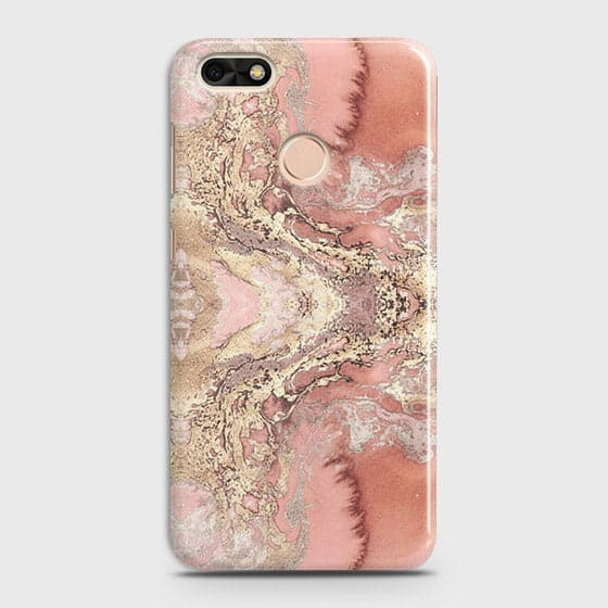 Trendy Chic Rose Gold Marble 3D Case For Huawei P9 Lite Mini