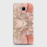 Huawei Honor 5X Cover - Trendy Chic Rose Gold Marble Printed Hard Case with Life Time Colors Guarantee