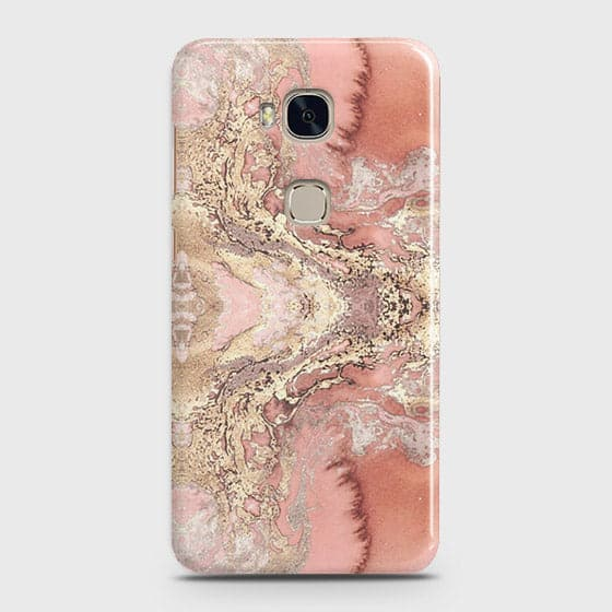 Trendy Chic Rose Gold Marble 3D Case For Huawei Honor 5X