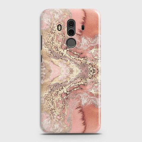 Trendy Chic Rose Gold Marble 3D Case For Huawei Mate 10 Pro