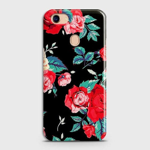 Luxury Vintage Red Flowers Case For Oppo F5 / F5 Youth