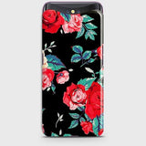 Oppo Find X Cover - Luxury Vintage Red Flowers Printed Hard Case with Life Time Colors Guarantee