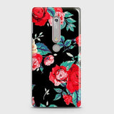 Nokia 6.1 Cover - Luxury Vintage Red Flowers Printed Hard Case with Life Time Colors Guarantee
