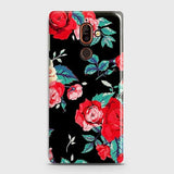 Nokia 7 Plus Cover - Luxury Vintage Red Flowers Printed Hard Case with Life Time Colors Guarantee