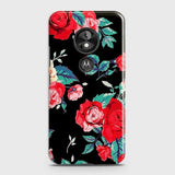 Luxury Vintage Red Flowers Case For Motorola Moto E5 / G6 Play