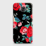 Luxury Vintage Red Flowers Case For Samsung A310
