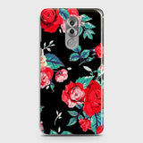 Huawei Honor 6X Cover - Luxury Vintage Red Flowers Printed Hard Case with Life Time Colors Guarantee