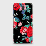 Huawei Mate 10 Lite Cover - Luxury Vintage Red Flowers Printed Hard Case with Life Time Colors Guarantee