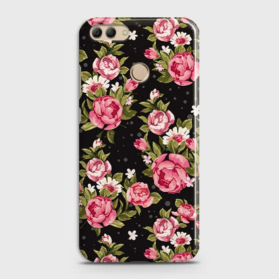 Trendy Pink Rose Vintage Flowers Case For Huawei Y9 2018