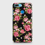 Huawei Honor 9 Lite Cover - Trendy Pink Rose Vintage Flowers Printed Hard Case with Life Time Colors Guarantee