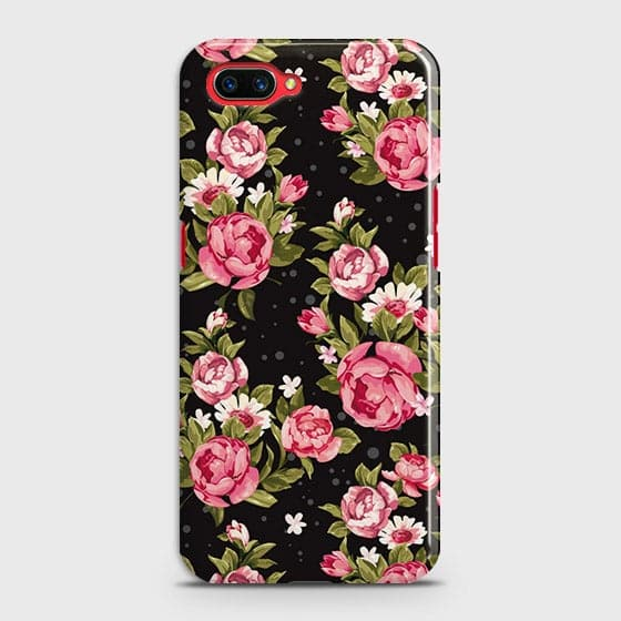 Trendy Pink Rose Vintage Flowers Case For Oppo A3S