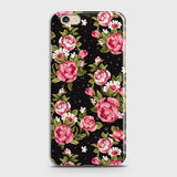 Oppo F1S Cover - Trendy Pink Rose Vintage Flowers Printed Hard Case with Life Time Colors Guarantee