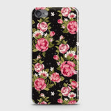 iPod Touch 6Cover - Trendy Pink Rose Vintage Flowers Printed Hard Case with Life Time Colors Guarantee(1)