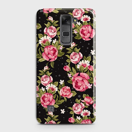 Trendy Pink Rose Vintage Flowers Case For LG Stylus 2