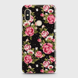 Xiaomi Redmi S2 Cover - Trendy Pink Rose Vintage Flowers Printed Hard Case with Life Time Colors Guarantee
