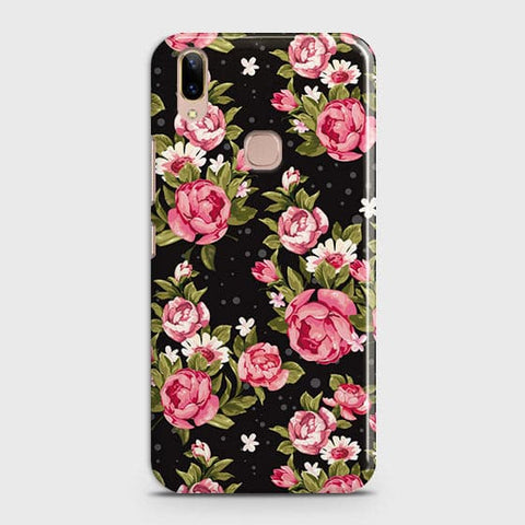 Trendy Pink Rose Vintage Flowers Case For Vivo V9