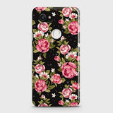 Trendy Pink Rose Vintage Flowers Case For Google Pixel 2 XL