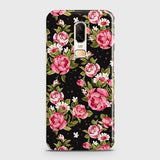 Trendy Pink Rose Vintage Flowers Case For OnePlus 6