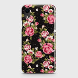 iPhone XR Cover - Trendy Pink Rose Vintage Flowers Printed Hard Case with Life Time Colors Guarantee