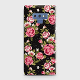Samsung Galaxy Note 9 Cover - Trendy Pink Rose Vintage Flowers Printed Hard Case with Life Time Colors Guarantee