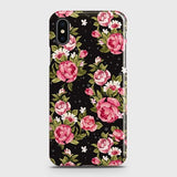 iPhone XS Max Cover - Trendy Pink Rose Vintage Flowers Printed Hard Case with Life Time Colors Guarantee