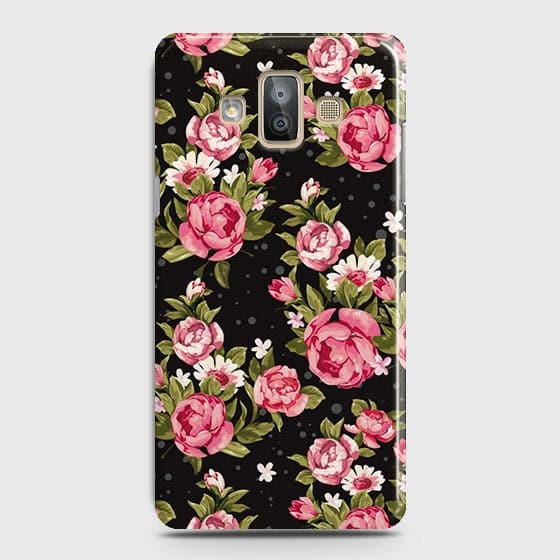 Trendy Pink Rose Vintage Flowers Case For Samsung Galaxy J7 Duo