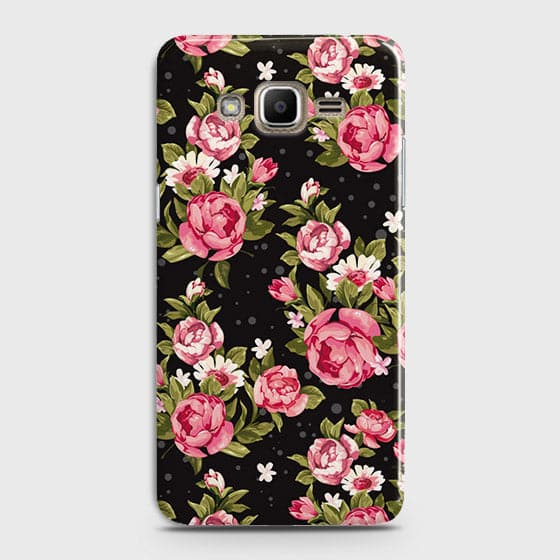 Trendy Pink Rose Vintage Flowers Case For Samsung Galaxy J7