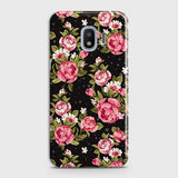 Trendy Pink Rose Vintage Flowers Case For Samsung Galaxy J4