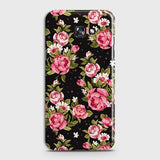 Samsung Galaxy J4 Plus Cover - Trendy Pink Rose Vintage Flowers Printed Hard Case with Life Time Colors Guarantee
