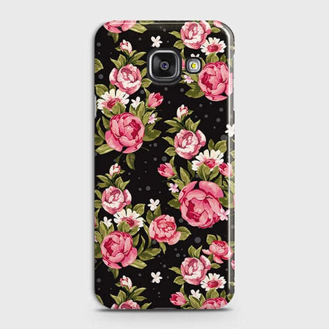 Samsung Galaxy J7 Max Cover - Trendy Pink Rose Vintage Flowers Printed Hard Case with Life Time Colors Guarantee