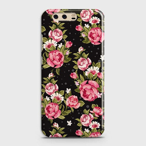 Trendy Pink Rose Vintage Flowers Case For Huawei P10