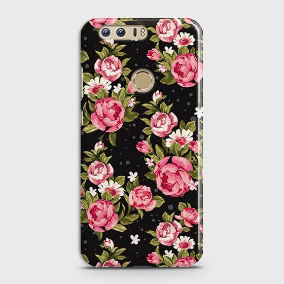 Trendy Pink Rose Vintage Flowers Case For Huawei Honor 8