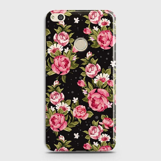Trendy Pink Rose Vintage Flowers Case For Huawei Honor 8 Lite